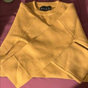 Forever 21 Cropped Tan Sweater SIZE M